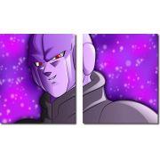 Quadro Decorativo Dragon Ball Z Goku Super Sayajin 2 Peças