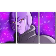 Quadro Decorativo Dragon Ball Z Goku Super Sayajin 3 Peças