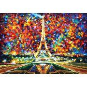 Quadro Decorativo Espatulado Colorido Paris
