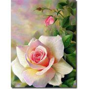 Quadro Decorativo Flor Branca 1 peça