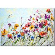 Quadro Decorativo Flores de Pintura 1 peça