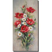Quadro Decorativo Flores Vermelhas 1 peça