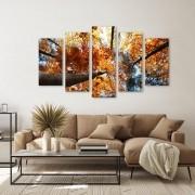 Quadro Decorativo Floresta Laranjada  de Outono