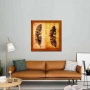 Quadro Decorativo Folhas Bananeira 80x80