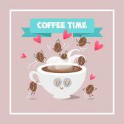 Quadro Decorativo Frases de Café 30X30 M2