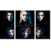 Quadro Decorativo Game Of Thrones 3 peças m2