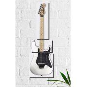 Quadro Decorativo Guitarra Branca 3 peças