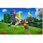 Quadro Decorativo Infantil Minion Com Tema Super Mario