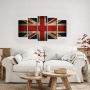 Quadro decorativo Inglaterra vintage bandeira país