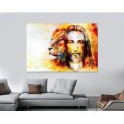 Quadro Decorativo Jesus e Leão 1 peça