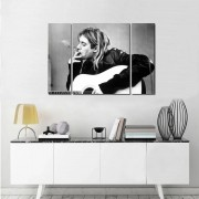 Quadro Decorativo Kurt Cobain Nirvana Rock