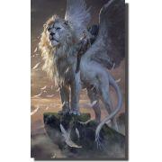 Quadro Decorativo Leão Alado para Sala peça