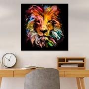 Quadro Decorativo Leão moderno Colorido Abstrato