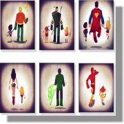 Quadro Decorativo Liga da Justiça 6 peças