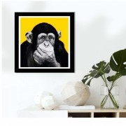 Quadro Decorativo Macaco Pensativo