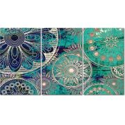 Quadro Decorativo Mandalas Modernas Coloridas