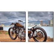 Quadro Decorativo Moto Harley Davidson 2 Peças