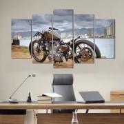 Quadro Decorativo Moto Harley Davidson 5 Peças