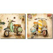 Quadro Decorativo Moto Vintage Para Sala