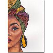 Quadro Decorativo Mulher Africana 1 peça