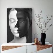 Quadro Decorativo Mulher De Duas Faces