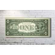 Quadro Decorativo Nota de Dinheiro Um Dólar 1 peça