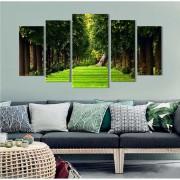 Quadro Decorativo Paisagem Floresta 5 Peças M3