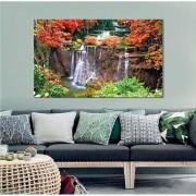 Quadro Decorativo Paisagem Floresta Com Cachoeira 1 Peça