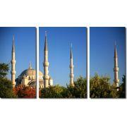 Quadro Decorativo Paisagem Mesquita Azul 3 Peças