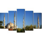 Quadro Decorativo Paisagem Mesquita Azul 5 Peças