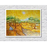 Quadro Decorativo Paisagem Oliveiras Amarelas Van Gogh 1 peça