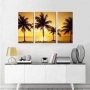 Quadro Decorativo Paisagem Praia 3 Peças M11