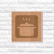 Quadro Decorativo Panela Cozinha Recorte MDF