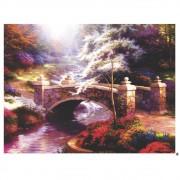 Quadro Decorativo Ponte na Floresta