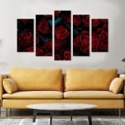 Quadro Decorativo Rosas Vermelhas buquê