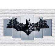 Quadro Decorativo Super Herói Batman 5 peças