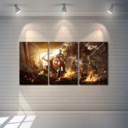 Quadro Decorativo Super Heróis Marvel 3 peças