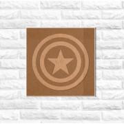 Quadro Decorativo SuperHerói Capitão América Recorte Mdf 6mm