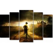 Quadro Decorativo The Walking Dead 5 peças