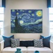 Quadro Decorativo Van Gogh Noite Estrelada Sem Borda