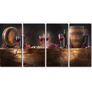 Quadro Decorativo Vinho Adega Taça