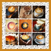 Quadro Decorativo Xicara Café com Capuccino Padaria Sala Cozinha