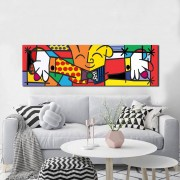 Quadro Romero Britto the Hug + brinde o pianista