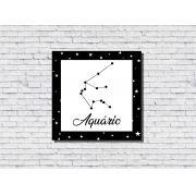 Quadro Zodíaco Constelação Signo Aquário 1 peça