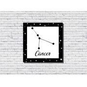 Quadro Zodíaco Constelação Signo Câncer 1 peça