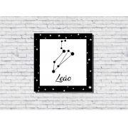 Quadro Zodíaco Constelação Signo Leão 1 peça