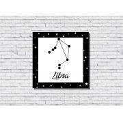 Quadro Zodíaco Constelação Signo Libra 1 peça