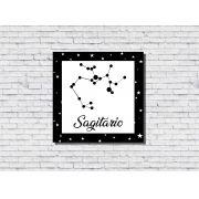 Quadro Zodíaco Constelação Signo Sagitário 1 peça
