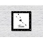 Quadro Zodíaco Constelação Signo Touro 1 peça