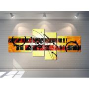 Quadros Abstratos Decorativo  Grande 189cm amarelo sala